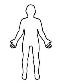 coloring page person outline clipart best