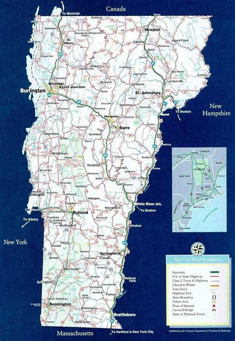 road map of vt vermont vacation rentals property in vermont
