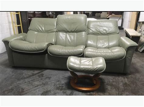 green reclining sofa ekornes stressless olive green leather recliner sofa set