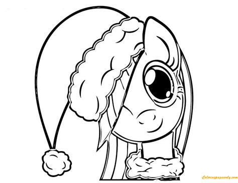 hard my little pony coloring pages my little pony playing christmas coloring page free