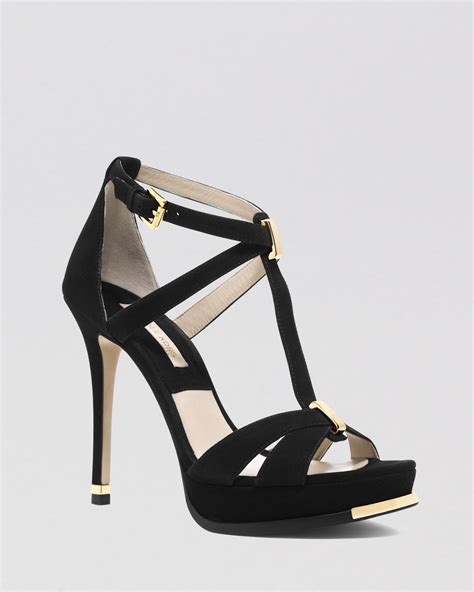 michael kors open toe platform sandals leandra high heel