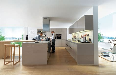 neue küche deko grau weiss violett wohnung