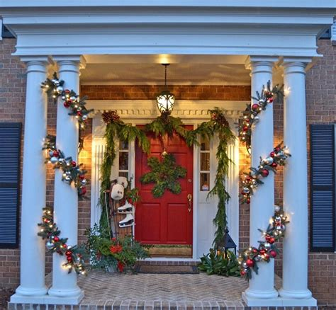 christmas decorating outdoor columns make this pottery barn inspired garland a detailed tutorial