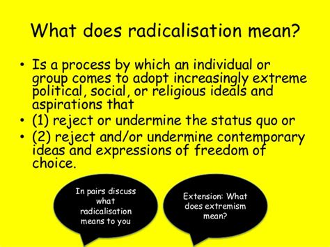 what does in intro to radicalisation