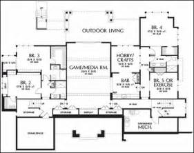 Single Story House Plans With Basement One Story Floor Plans With Basements