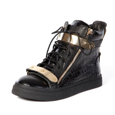 giuseppe sneakers mens giuseppe zanotti shoes s croc high top buckles