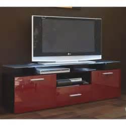 meuble tv 146x46x35 laqu 233 noir et bordeaux achat vente