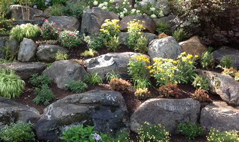 Rock Garden Photos Garden Boulders Boulder Gallery The Rock Yard Images About Rocks And Boulders On Pinterest Gardens