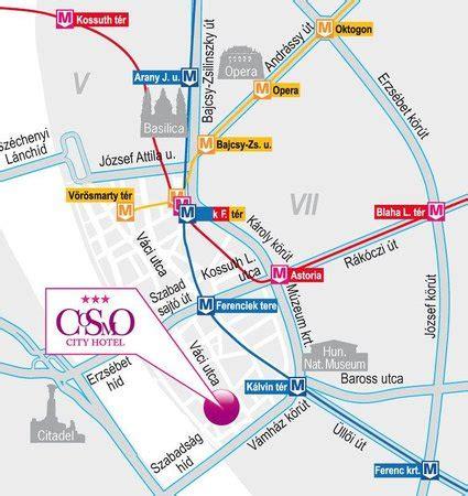 tripadvisor map map picture of cosmo city hotel budapest tripadvisor