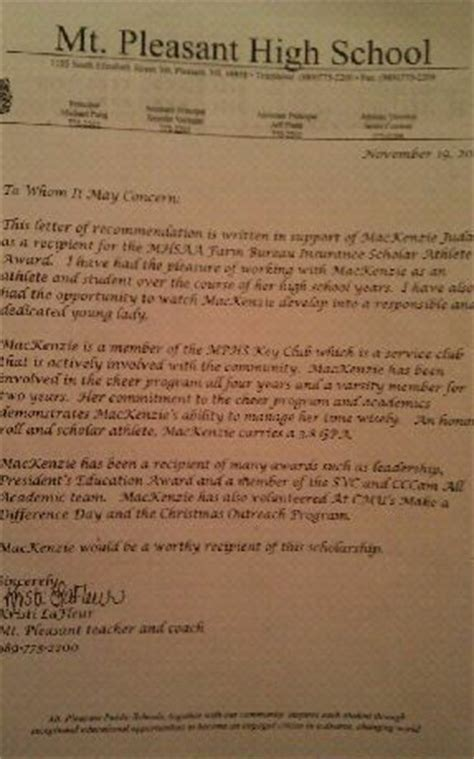 Recommendation Letter For Student Cheerleading Letters Of Recommendation Mackenzie Juday Digital