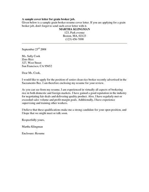 cover letter samples free for resume