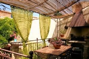 dekoideen terrasse deko ideen f 252 r balkon und terrasse bedeckt sichtschutz