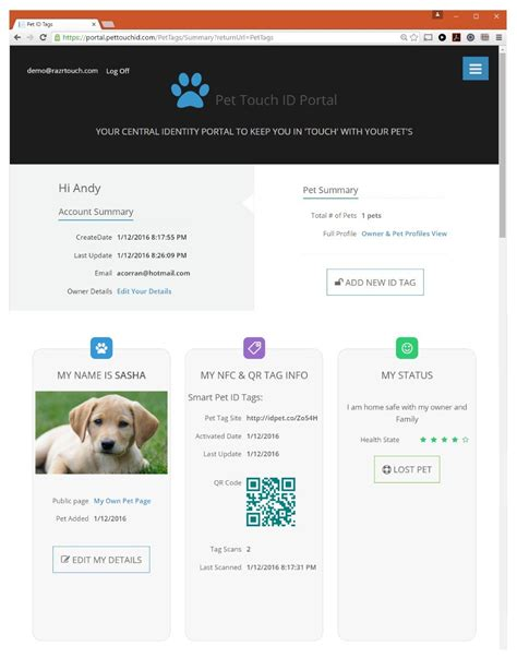 7 Smart Pet Solutions by Pet Touchid Smart Pet Id Products