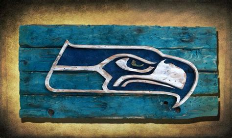Seattle Handmade - seattle seahawks handmade distressed wood sign vintage