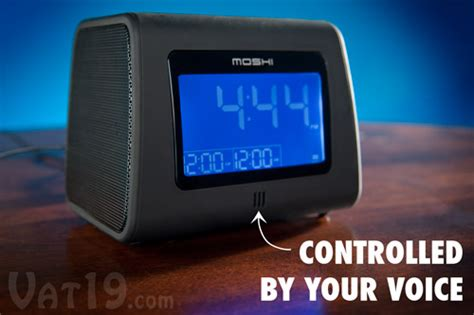 moshi digital alarm clock radio voice activated am fm digital clock radio
