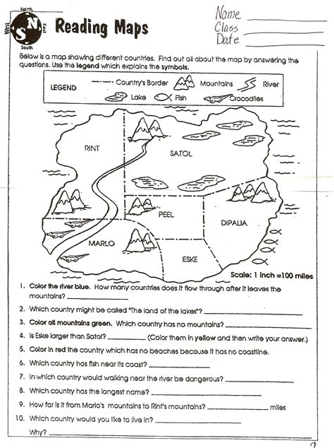 printable map reading worksheets map reading worksheets lesupercoin printables worksheets