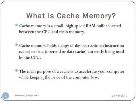 ram and cache memory cache memory