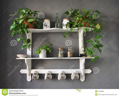 Stock Shelf by Kitchen Shelf Shabby Chic Stock Image Image Of Picturesque 13660869