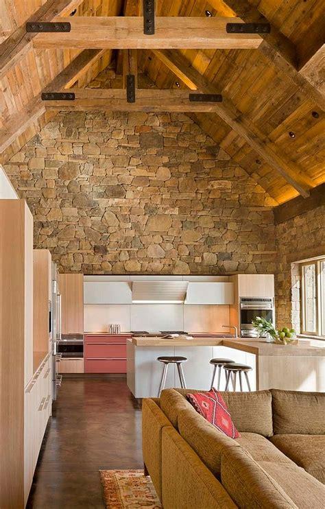 Designs Of Modern Kitchen - 30 inventive kitchens with stone walls