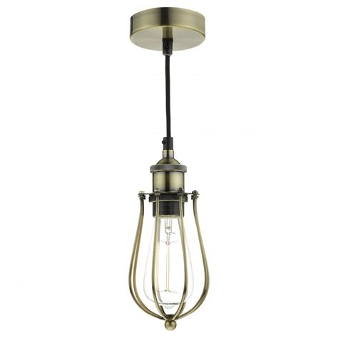 Industrial Cage Ceiling Pendant Light Hanging On