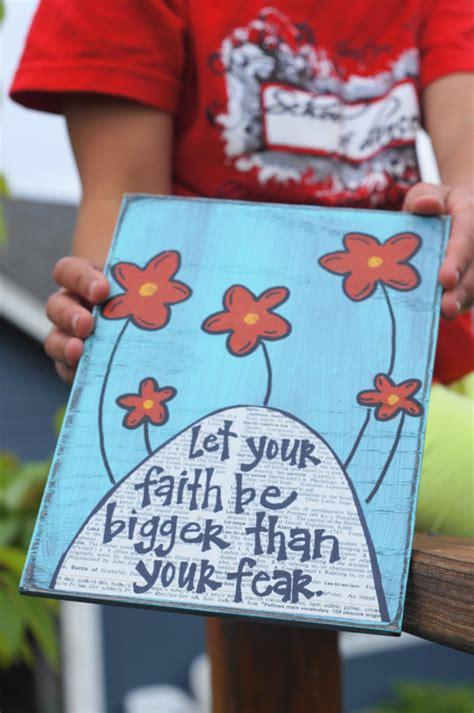 faith crafts for let your faith be bigger than your fear handmade card