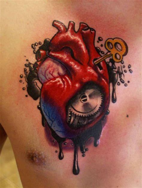 imagenes de corazones mecanicos tatuaje coraz 243 n mecanico