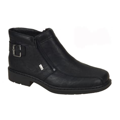 buy men s rieker black ankle boot 32861 00