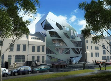 An Aluminum Prism by Zaha Hadid Architects is a New Mixed
