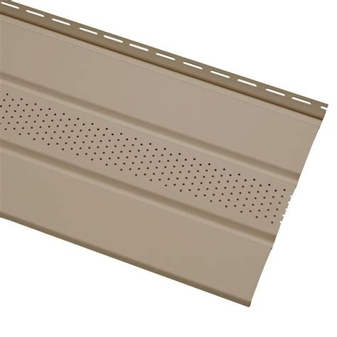 cellwood economy 4 in khaki solid vinyl soffit