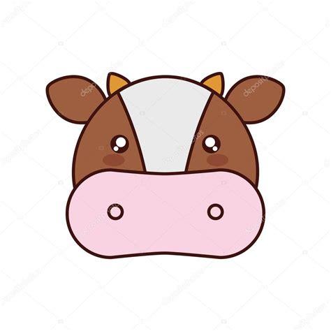 imagenes de vacas kawaii ic 244 ne animaux mignons de vache kawaii image vectorielle