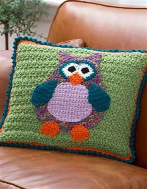 free pattern owl cushion free downloadable crochet owl pattern pillows