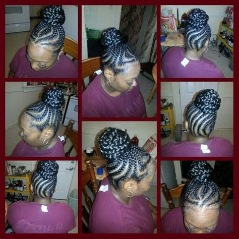 big braids going into a bun cornrows into braided bun wit weave my hairstylez