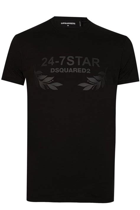 T Shirt Dsquared2 Black dsquared 24 7 t shirt black