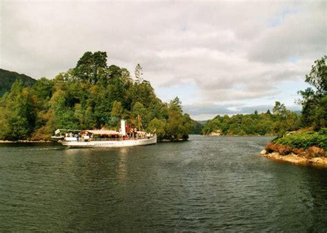 Waterside Cottage Loch Katrine by Ss Sir Walter Sailing On Loch Katrine Scotland
