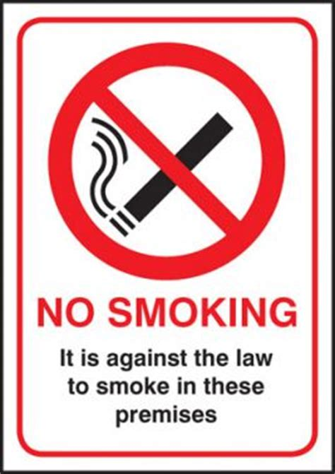 No Smoking Sign Dimensions | no smoking it is against the law sign rigid plastic a4