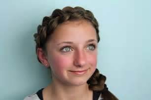 2 braids in front hair hairstyle hair wrap around dutch pancake braid cute braided hairstyles