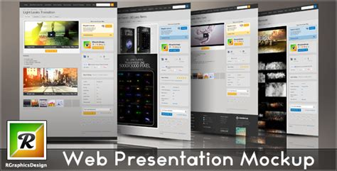 web design mockup presentation web presentation mockup on behance