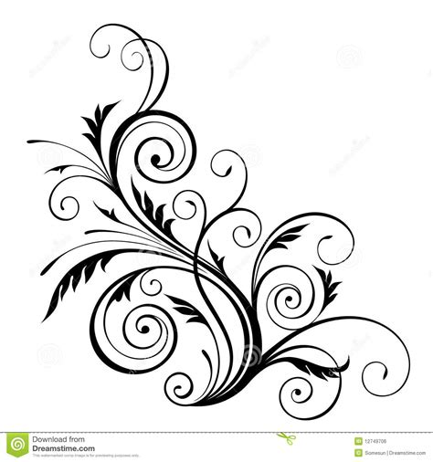 flower design element vector illustration free vector 18 single floral vector design elements images floral