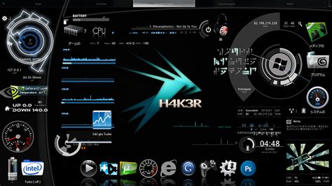 Download Theme For Windows 7 Hacker | hacker v3 rainmeter theme for windows7