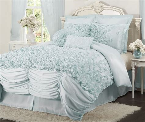 baby blue comforter set blue ruffle bedding sets