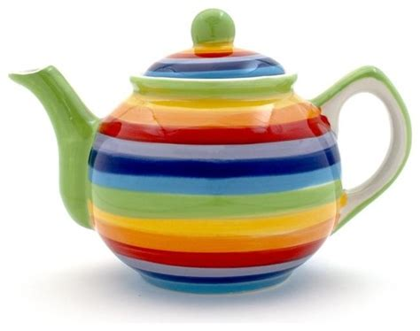 Wall Decorating Ideas For Bathrooms by Small Rainbow Hoops Teapot Contemporary Teapots By