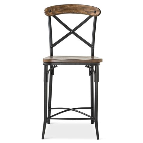 Target Metal Counter Stools by Bralton 23 Quot Counter Stool Steel Brown Ebay