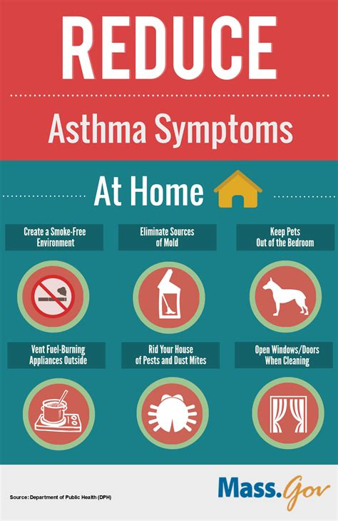 how you can reduce asthma symptoms at home and work mass gov