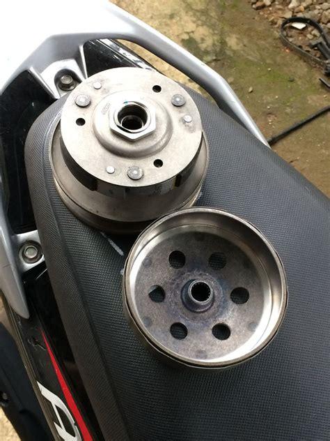 Buka Puli Cvt Motor Matic Big cara menghilangkan bunyi suara decit cvt matic suzuki address