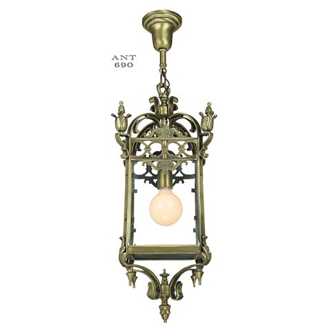 antique pendants brass ceiling fixtures circa 1920 entry