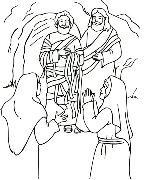 Coloring Page Jesus And Lazarus | jesus raises lazarus coloring page