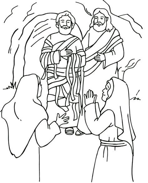 coloring page jesus heals bleeding resurrecci 243 n de l 225 zaro p 225 para colorear