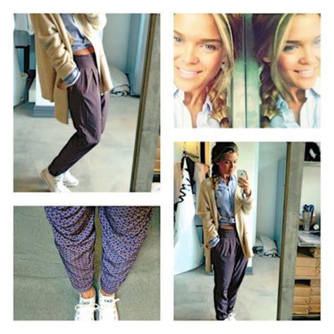 pattern pants tumblr pants harem chino pattern girl class swag cute