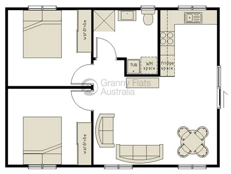 granny flat floor plans 2 bedrooms 2 bedroom granny flat archives granny flats australia