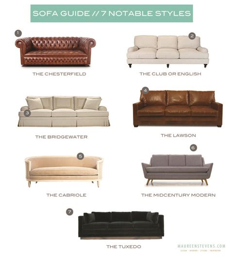 couch types styles of sofa elegant diffe style couches a guide to